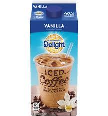 vanilla iced coffee carton