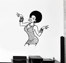 Beauty Hair Salon Wall Vinyl Decal Tagged African Hairstyle Wallstickers4you