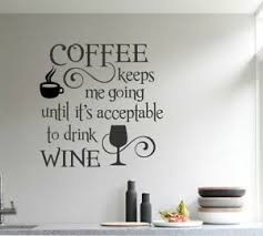 Coffee Wine Kitchen Cafe Bar Wall Art Decal Quote Words Lettering Decor Ebay