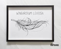 Wingardium Leviosa Spell Wall Art Harry Potter Wall Art Etsy