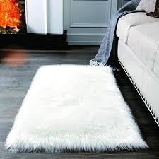 super soft white fluffy rug faux fur