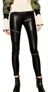 zara black w faux leather moto biker w
