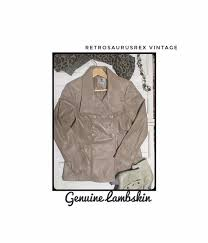 1990 s camel leather lambskin jacket by