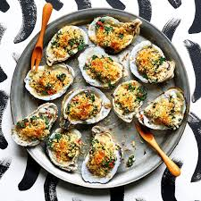 Oysters au Gratin with Spinach ...