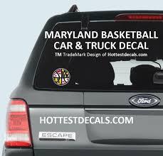 Maryland Basketball Decal Sticker Maryland Crab Decal Sticker Hottestdecals