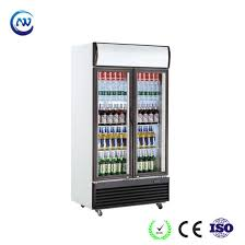 china upright glass door drink fridge