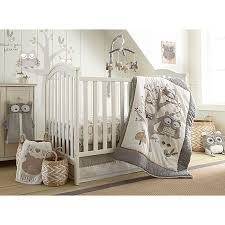 Levtex Baby Night Owl 5 Piece Crib Bedding Set In Grey Taupe Buybuy Baby