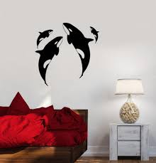 Vinyl Decal Whale Ocean Marine Animals Sea Wall Sticker Mural Unique G Wallstickers4you