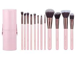 luxie rose gold 12 piece makeup brush