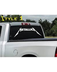 Metallica Decal Sticker For Car Window