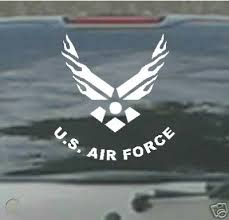 Huge Flaming Us Air Force Car Decal Window Sticker 21649141