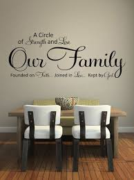 Wall Decals Quotes A Circle Of Strength And Love By Styleawall 34 99 Home Decor Dining Room Walls Home