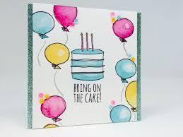 Water Color Birthday Card April Tarjetas Tarjetas De Cumpleanos