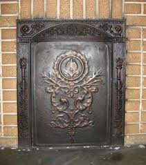 the living room cast iron fireplace