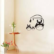 New Totoro Wall Stickers Home Decor Japanese Cartoon Wallpapers Sticker Wall Stickers For Children Room Totoro Wall Decal Decor Wish