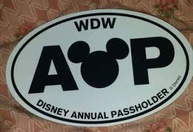 Walt Disney World Annual Passholder Car Magnet Wdw Decal 503831935