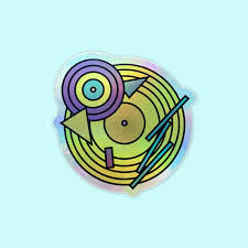 90s Vinyl Record Holographic Sticker Mint Plus Plus