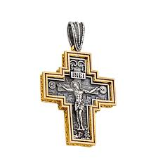 st235 sterling silver and gold crucifix