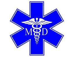 Star Of Life Md Caduceus Symbol Vinyl Decal Medical Doctor Physician Sticker Ebay