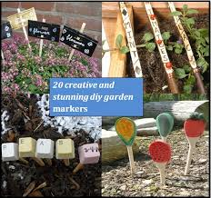 20 creative diy garden markers and
