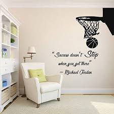 Amazon Com Basketball Wall Decal Basket Wall Art Stickers Decals Basketball Wall Stickers Kids Room Removable Home Decor 677re Home Kitchen
