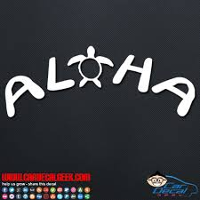 Aloha Sea Turtle Car Window Decal Sticker Hawaii Decals