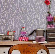 modern wall stencils decorate with