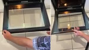 remove oven glass door in seconds