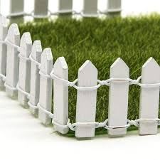 Christmas Tree Fence 5 Pcs 10 White Plastic Fence Christmas Tree Wedding Party Decoration Miniature Fairy Garden Ornament Fence Outdoor Garden Fence