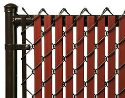 Redwood 7ft Tube Slat For Chain Link Fence Ogrod
