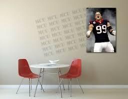Jj Watt Football Houston Texans Painting Canvas Print Art Home Decor Wall Ebay