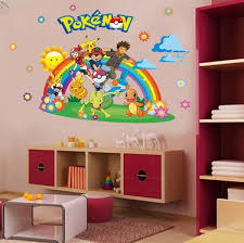 Diy Pokemon Go 3d Window Wall Stickers For Kids Room Decor Home Decals Nursery Wall Art Peel And Stick Wallpaper Wish