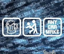 Drink Fuck Any Make Decal Dumbdecals Com
