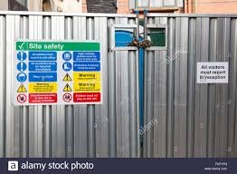 Construction Site Fence High Resolution Stock Photography And Images Alamy