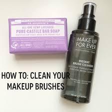 make up for ever instant brush cleanser
