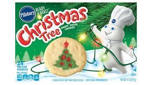 shape tree sugar cookies
