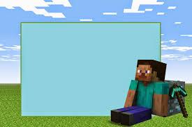 Invitaciones De Minecraft Para Imprimir Invitaciones De Minecraft