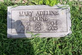 """Mary Adeline """"Addie"""" Owens Boone (1904-1935) - Find A Grave Memorial"""