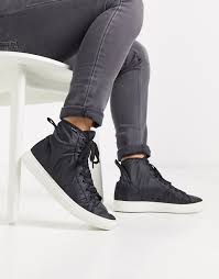 PS Paul Smith Dreyfuss nylon high top trainers in black | ASOS