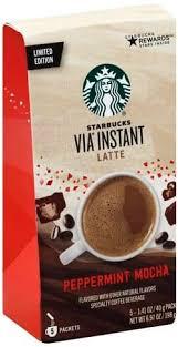starbucks peppermint mocha latte