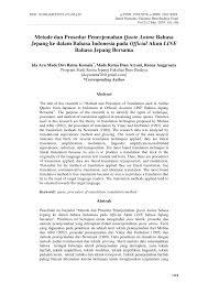 pdf metode dan prosedur penerjemahan quote anime bahasa jepang ke