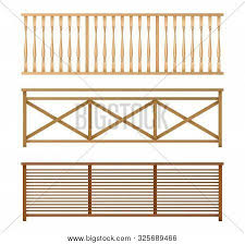Wooden Fences Vector Photo Free Trial Bigstock