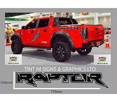 2 X Ford Ranger Raptor Truck Car Vinyl S Buy Online In Mongolia At Desertcart