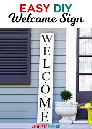 Easy Vertical Welcome Sign Reversible For The Holidays Jennifer Maker