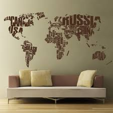 Countries Of The World Map Vinyl Wall Decal Cutzz