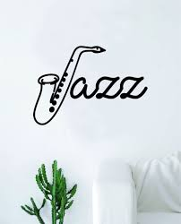 Jazz Saxophone Wall Decal Decor Art Sticker Vinyl Room Bedroom Inspira Boop Decals