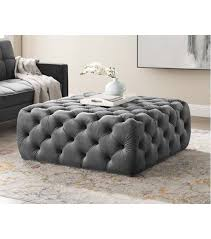 totally tufted square ottoman coffee table
