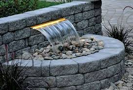 retaining wall spillway waterfall