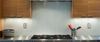 white glass 1x4 subway tile kitchen