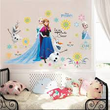 Lovely Olaf Elsa Anna Princess Wall Stickers For Kids Room Home Decoration Diy Girls Decals Anime Mural Art Frozen Movie Poster Wallcorners Art Canvas